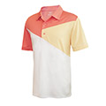 Monterey Club Diagonal Colorblock Polo Shirt