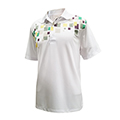 Monterey Club Cube Element Print Contrast Polo Shirt