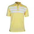 Monterey Club Chamber Stripe Contrast Polo Shirt