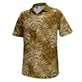 Monterey Club Forest Leaves Print Polo Shirt