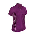 Monterey Club Polka Dots Colorblock Polo Shirt
