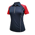 Monterey Club Victory Contrast Zip Polo Shirt