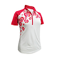 Monterey Club Wild Rose Stamp Contrast Polo Shirt