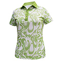 Monterey Club Abstract Print Polo Shirt
