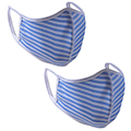Monterey Club Junior's  Essential Stripe Face Mask